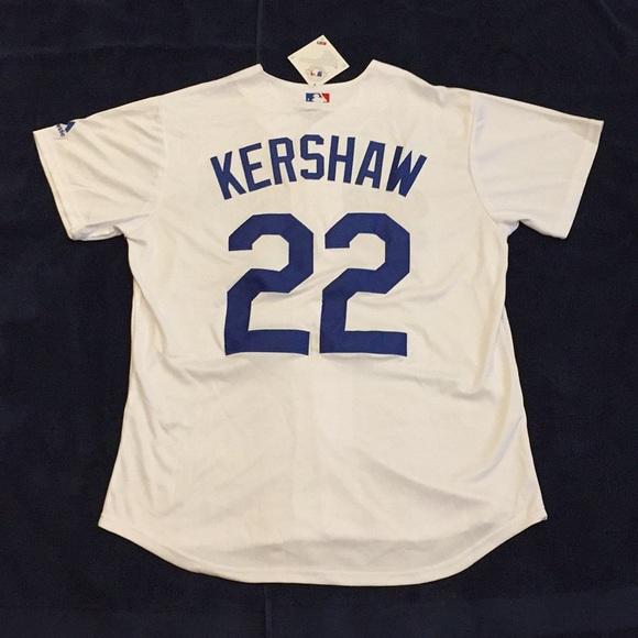 purchase cheap 5ec7e 9cc83 LA Dodgers Baseball Jersey KERSHAW (white) NWT
